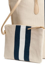 Shopper with a pouch - Light beige - Ladies | H&M 3