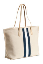 Shopper with a pouch - Light beige - Ladies | H&M 2