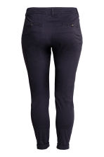 H&M+ Chinos - Dark blue - Ladies | H&M 3