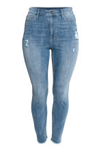 H&M+ Slim High Ankle Jeans - Denim blue/Washed - Ladies | H&M CN 2