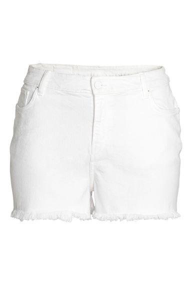 H&M+ Denim shorts - White denim - Ladies | H&M