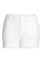 H&M+ Denim short - Wit denim - DAMES | H&M NL 1