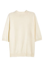 Cashmere short-sleeved jumper - Natural white - Ladies | H&M 2