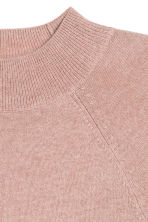 Cashmere short-sleeved jumper - Powder pink - Ladies | H&M CN 3