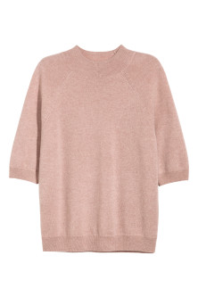 Cashmere short-sleeved jumper