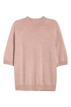 Cashmere short-sleeved jumper - Powder pink - Ladies | H&M CN 2