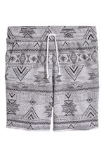Patterned sweatshirt shorts - Grey/Patterned - Men | H&M 2