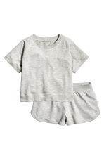 Lounge set with top and shorts - Grey marl - Ladies | H&M CN 2