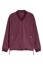Pull-on V-neck shirt - Burgundy - Men | H&M 2