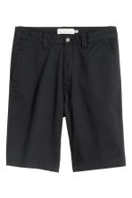Chino shorts - Black - Men | H&M 2