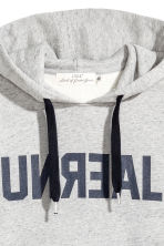 Hooded top - Grey marl/Text - Men | H&M 3