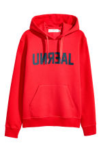 Hooded top - Red/Text -  | H&M 2