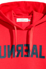 Hooded top - Red/Text -  | H&M 3