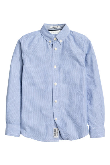 Cotton shirt - Blue/Striped - Kids | H&M