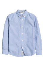 Cotton shirt - Blue/Striped - Kids | H&M CN 1