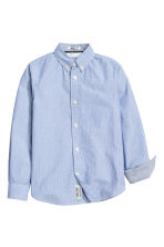 Cotton shirt - Blue/Striped - Kids | H&M CN 2
