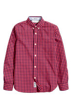 Cotton shirt - Coral red/Checked - Kids | H&M 2