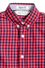 Cotton shirt - Coral red/Checked - Kids | H&M 4