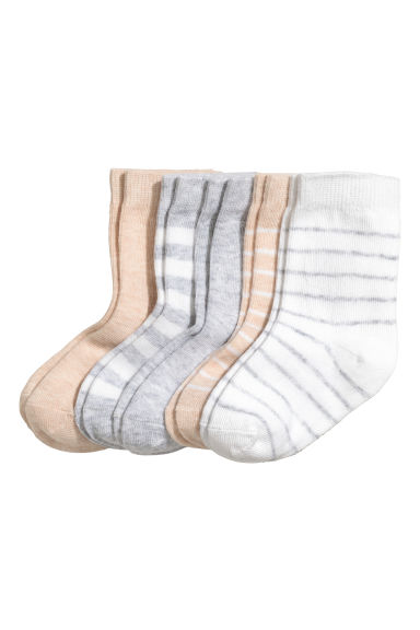 5-pack socks - Light beige - Kids | H&M 1