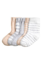 5-pack socks - Light beige -  | H&M 1