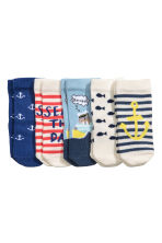 5-pack socks - Cornflower blue/Anchor -  | H&M 2