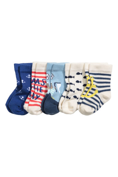 5-pack socks - Cornflower blue/Anchor -  | H&M 1