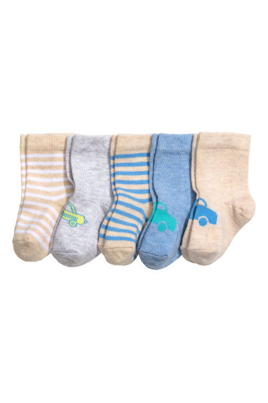 5-pack socks - Beige - Kids | H&M CN 1