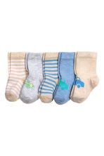 5-pack socks - Beige - Kids | H&M 1