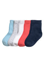 5-pack socks - Coral red - Kids | H&M 1