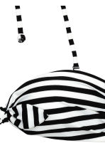 Bandeau bikini top - Black/White/Striped - Ladies | H&M 3
