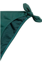 Bikini bottoms with side ties - Emerald green - Ladies | H&M CN 3