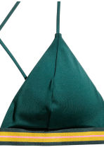 Triangle bikini top - Emerald green - Ladies | H&M CN 4