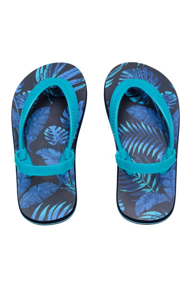 Flip-flops - Dark blue/Leaf - Kids | H&M CN 1