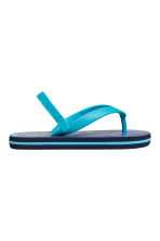 Flip-flops - Dark blue/Leaf - Kids | H&M CN 2