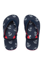 Flip-flops - Dark blue/Anchor - Kids | H&M 1
