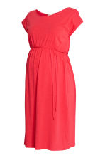 MAMA Jersey dress - Coral red - Ladies | H&M CN 2