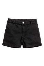 Twill shorts - Black - Ladies | H&M 2