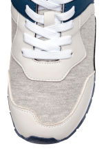 Mesh trainers - Light beige marl -  | H&M 4