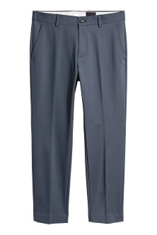 Cotton-blend suit trousers
