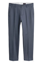 Cotton-blend suit trousers - Dark grey-blue - Men | H&M 2