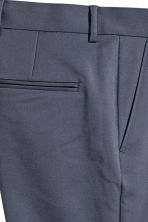 Cotton-blend suit trousers - Dark grey-blue - Men | H&M 4