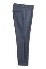 Cotton-blend suit trousers - Dark grey-blue - Men | H&M 3