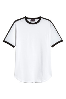 T-shirt with grosgrain