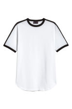 T-shirt with grosgrain - White - Men | H&M 2