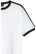 T-shirt with grosgrain - White - Men | H&M 3