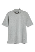T-shirt with a collar - Grey marl - Men | H&M 2