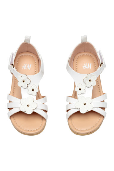 Sandals with appliqués - White - Kids | H&M CN 1