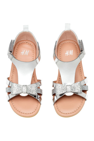 Sandals with appliqués - Silver - Kids | H&M 1