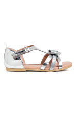 Sandals with appliqués - Silver - Kids | H&M CN 2