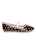 Spotted ballerina shoes - Black/Minnie Mouse - Kids | H&M CN 2